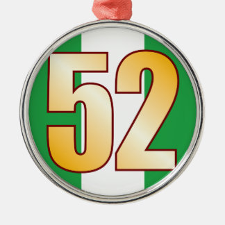 52 NIGERIA Gold Christmas Ornament