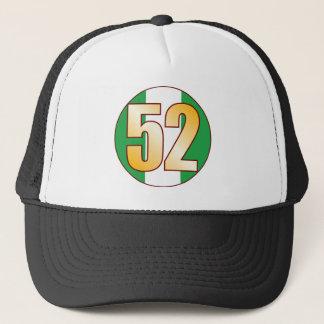 52 NIGERIA Gold Trucker Hat