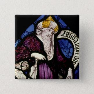52:Roundel of the prophet Ezekiel, 15th century 15 Cm Square Badge
