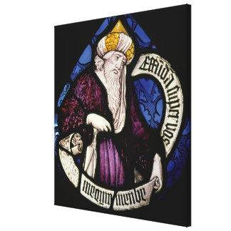 52:Roundel of the prophet Ezekiel, 15th century Canvas Print