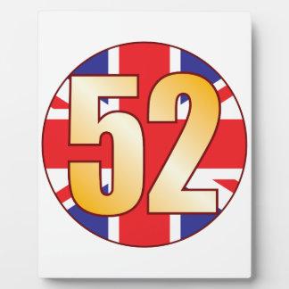 52 UK Gold Plaque