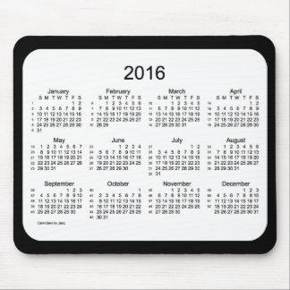52 Weeks 2016 Calendar Black and White Mousepad