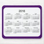 52 Weeks 2016 Calendar by Janz Purple Mousepad
