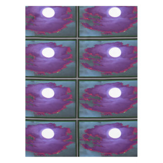 "52""x70"" tablecloth Full Moon shine purple clouds"
