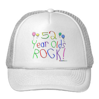 52 Year Olds Rock ! Mesh Hat