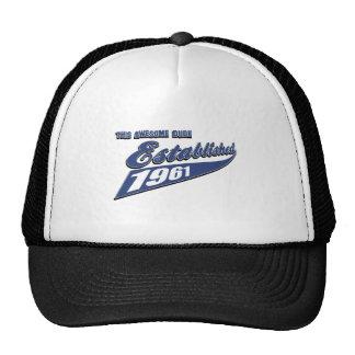 52nd year old birthday designs cap