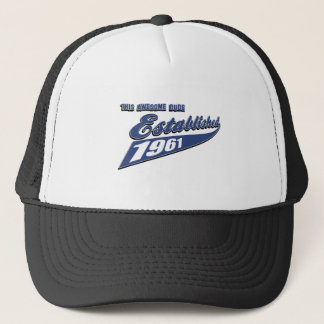 52nd year old birthday designs trucker hat