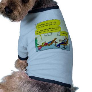 530 santa is a jerk cartoon dog tshirt