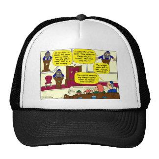 531 Rabbi Vacation cartoon Hat