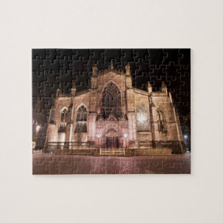 5348 - St. John's Episcopal Church at night Jigsaw Puzzle
