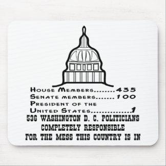 536 Washington DC Politicians Are Responsible Mouse Pad