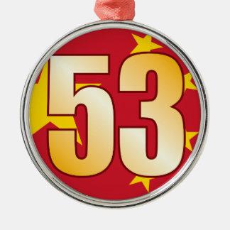 53 CHINA Gold Christmas Ornament