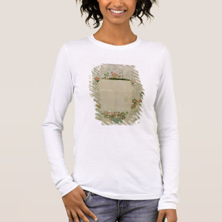 53:Mirror frame, unfinished embroidery in coloured Long Sleeve T-Shirt
