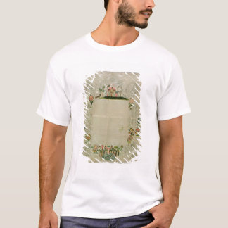 53:Mirror frame, unfinished embroidery in coloured T-Shirt
