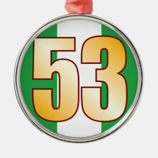 53 NIGERIA Gold Christmas Ornament