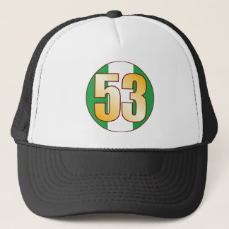 53 NIGERIA Gold Trucker Hat