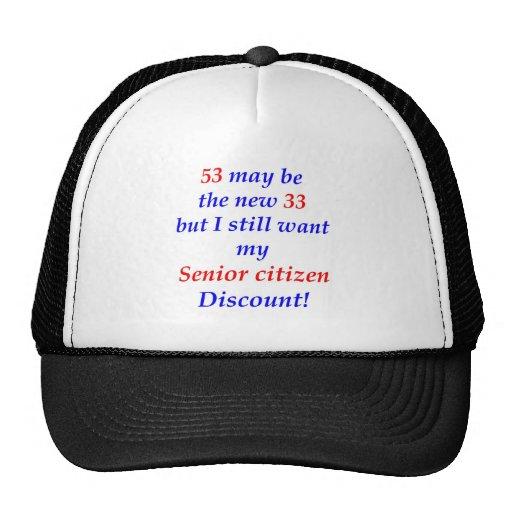 53 Senior Citizen Mesh Hats