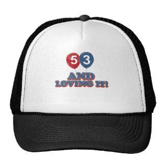 53 years Old birthday designs Cap