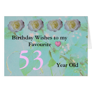 53rd Birthday Card