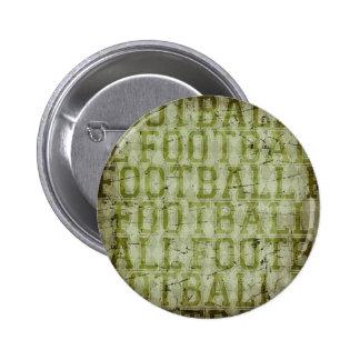 5417_football SPORTS TYPOGRAPHY FOOTBALL GREENS TE 6 Cm Round Badge