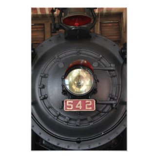 542 Train Engine, Light, and Bell Photographic Print