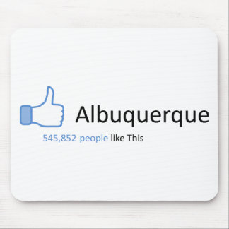 545852 people like Albuquerque Mouse Pad