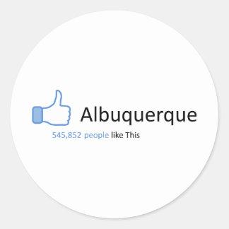 545852 people like Albuquerque Round Sticker
