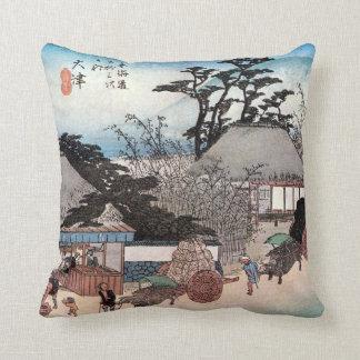 54. 大津宿, 広重 Ōtsu-juku, Hiroshige, Ukiyo-e Cushion