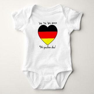 '54, '74, '90, 2010 Babybody with Germany heart Tee Shirts