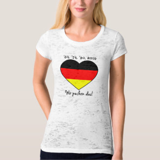 '54, '74, '90, 2010 lady shirt with Germany heart