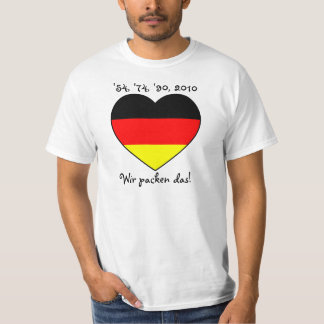 '54, '74, '90, 2010 T-shirt with Germany heart