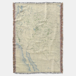 54 Areas irrigated 1889 Throw Blanket