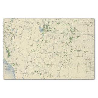 54 Areas irrigated 1889 Tissue Paper