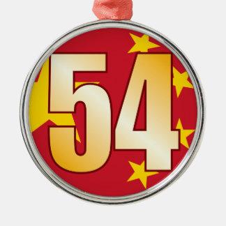54 CHINA Gold Christmas Ornament