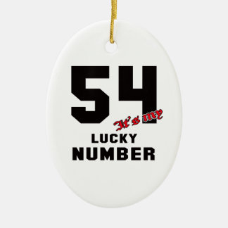 54 It's my lucky number Ceramic Oval Decoration