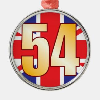 54 UK Gold Christmas Ornament