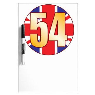 54 UK Gold Dry Erase Board