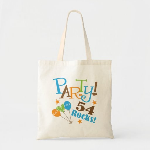 54th Birthday Gift Ideas Canvas Bag