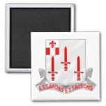 54th Engineer Battalion Square Magnet