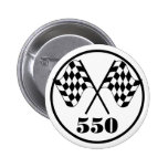 550 Chequered Flags Pinback Button