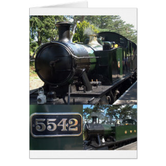 5542 Steam Locomotive Card