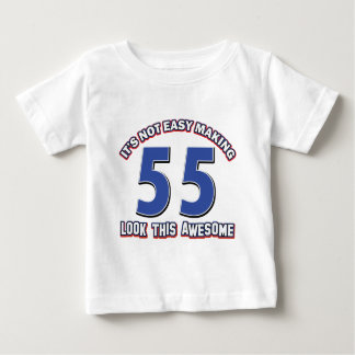 55 birthday Designs T-shirts