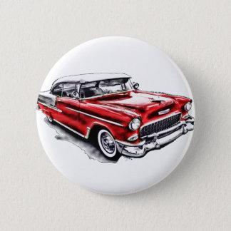 55 Chevy 6 Cm Round Badge
