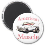 55 chevy American Muscle 6 Cm Round Magnet
