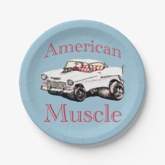 55 chevy American Muscle Paper Plate