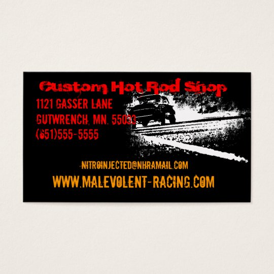 55 Chevy Gasser Burnout Business Card