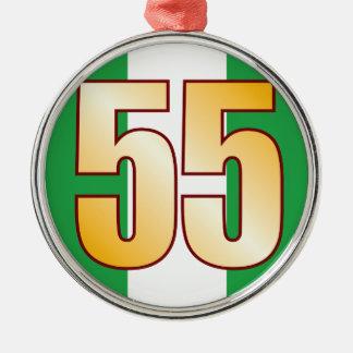 55 NIGERIA Gold Silver-Colored Round Decoration