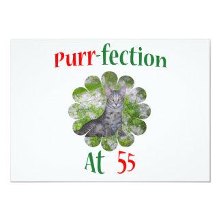 55 Purr-fection 13 Cm X 18 Cm Invitation Card