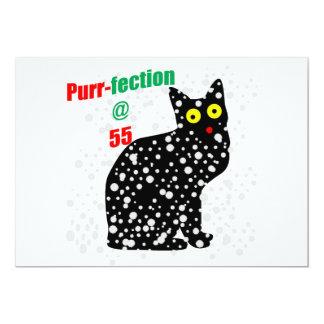 55 Snow Cat Purr-fection 13 Cm X 18 Cm Invitation Card