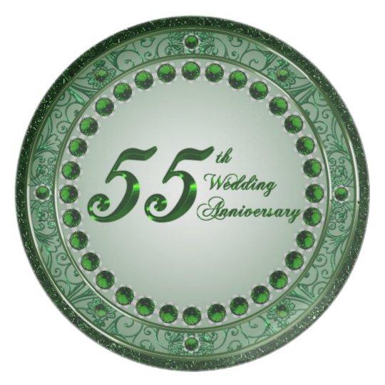 55 Wedding Anniversary Melamine Plate